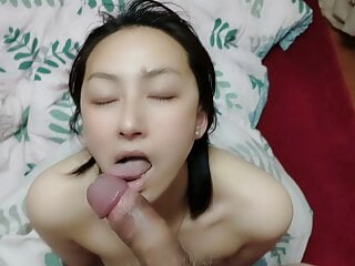 Chinese girl blowjob and sex