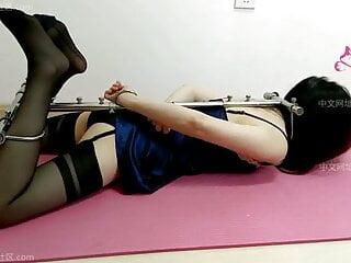 Chinese  girl  rigid  Hogtie