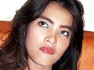 Quiet Asian Cutie SWallows Sperm