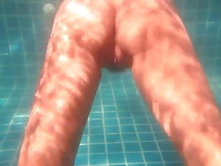 Sexy Chinese wife in the pool