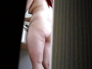 Asian In Bathroom Showing Big Ass Tits