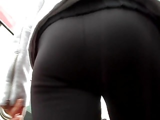 BootyCruise: Black Leggings Up-Ass Cam 12