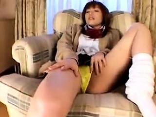 Asian hottie blowjob and hot masturbation